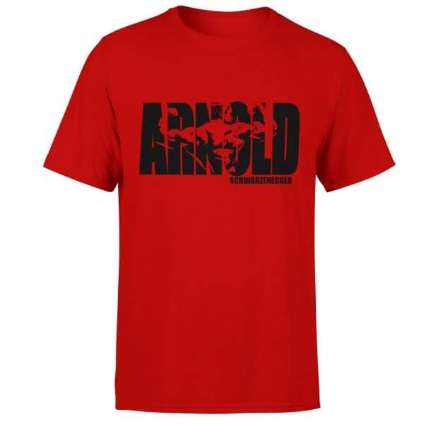 arnold-born-lion-fitness-tshirt-red
