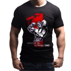 arnold-numerouno-born-lion-fitness-tshirt