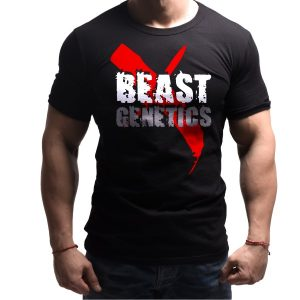 beast-genetics-born-lion-fitness-tshirt