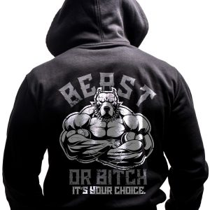 beast-mode-born-lion-fitness-hoodie-back