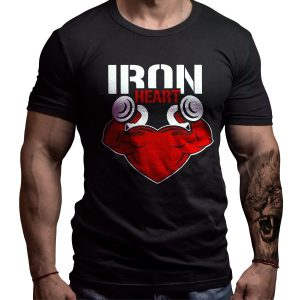 ironheart-born-lion-fitness-tshirt