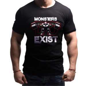 monster-born-lion-fitness-tshirt