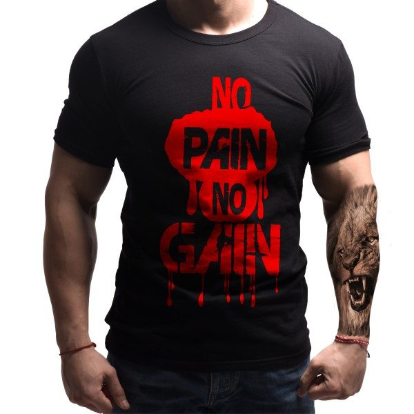 nopain-nogain-born-lion-fitness-tshirt