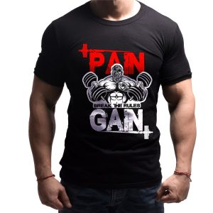 pain-gain-born-lion-fitness-tshirt