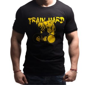 train-hard-born-lion-fitness-tshirt