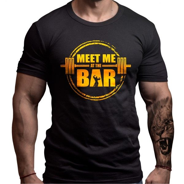 barbell-tshirt-born-lion-front