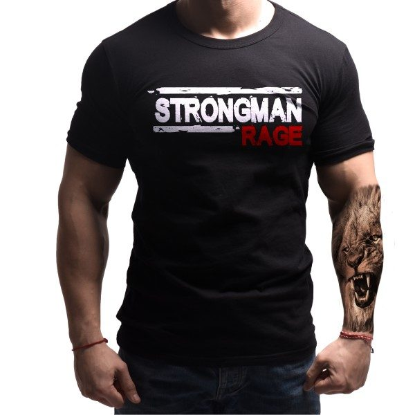 strongman-powerlifting-tshirt-born-lion-front