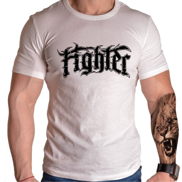 fighter-mma-tshirt-born-lion-front