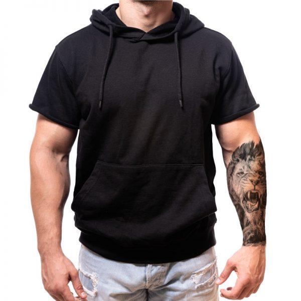 half-sleeve-hoodie-born-lion-cutom