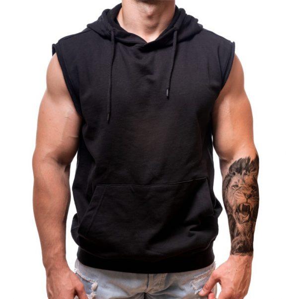 sleeveless hoodie-born-lion-custom