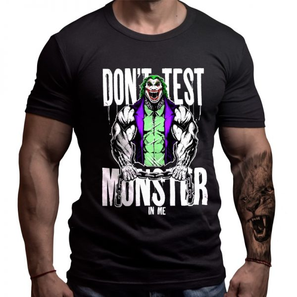 joker-fitness-tshirt-born-lion-front