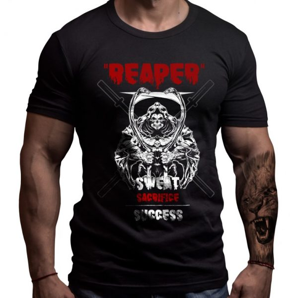 reaper-fitness-tshirt-born-lion-design
