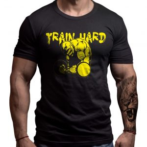 train-hard-born-lion-tshirt-fitness