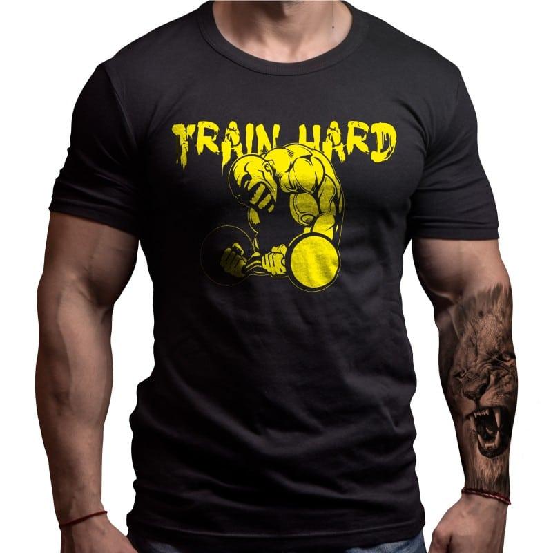 train-hard-born-lion-tshirt-fitness
