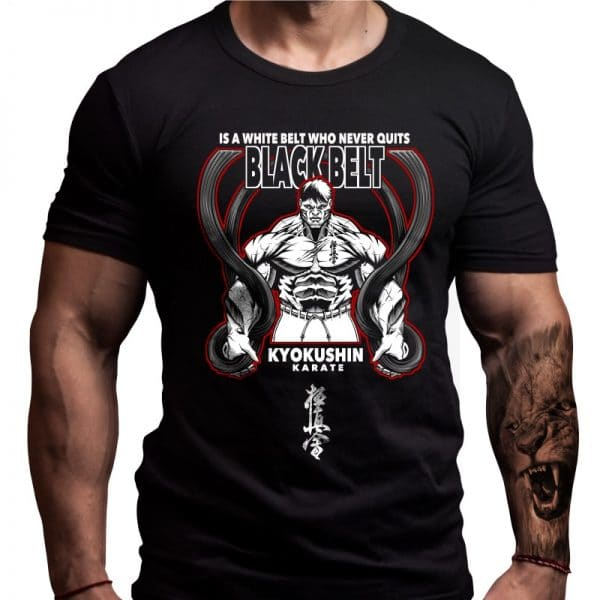 kyokushin-black-belt-motivation-tshirt-design-born-lion