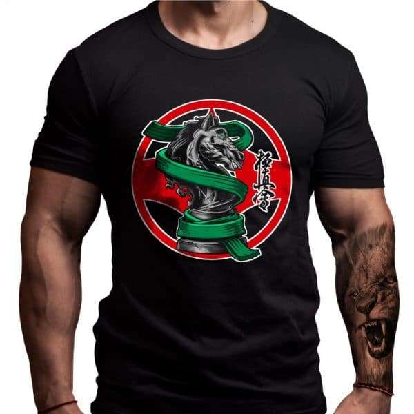 kyokushin-green-belt-motivation-tshirt-design-born-lion
